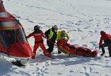 Nelaimė pasaulio taurės etape: JAV kalnų slidininkas nuskraidintas į ligoninę