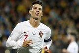 """C.Ronaldo fenomeną liaupsinęs J.Mourinho: """"Jis net būdamas 50-metis pelnys įvarčius legendų rungtynėse"""""""