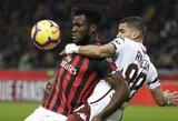 """""""AC Milan"""" ir """"Napoli"""" susitikimas baigėsi be įvarčių"""
