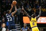 """""""Lakers"""" be L.Jameso sutriuškinta Minesotoje"""