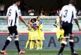 """Italijoje pirmą pergalę iškovojo """"Chievo"""" klubas (+ kiti rezultatai)"""