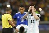 Kaltinimais besisvaidžiusiam L.Messi gresia dvejų metų trukmės diskvalifikacija