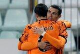 """""""Juventus"""" puolėjas A.Morata: """"Savo vaikams papasakosiu, jog žaidžiau kartu su C.Ronaldo"""""""