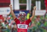 """A.Hansenas pirmą kartą karjeroje laimėjo """"Vuelta a Espana"""" dviračių lenktynių etapą"""