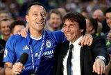 """A.Conte atskleidė, kodėl yra dėkingas """"Chelsea"""" legendai J.Terry"""
