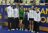 Lietuvos rinktinė Europos jaunių komandiniame badmintono čempionate liko be pergalių
