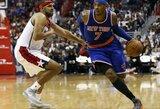 """Nesustabdomas C.Anthony žaidimas atvedė """"Knicks"""" į pergalę Vašingtone"""