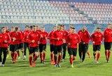 Lietuvos futbolo rinktinė ruošiasi rungtynėms Rumunijoje
