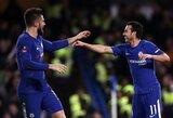 """Anglijos FA taurė: dar pirmame kėlinyje keturis įvarčius pelnę """"Chelsea"""" pateko į ketvirtfinalį"""