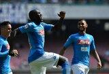 """""""Serie A"""": """"Napoli"""" tęsia pergalingą žygį, """"Inter"""" kyla į antrą lygos vietą"""