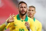 Brazilijos rinktinė turės verstis be traumuoto Neymaro pagalbos