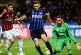 """M.Icardi įvartis per pridėtą rungtynių laiką išplėšė pergalę """"Inter"""" prieš """"AC Milan"""""""
