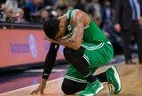 """Pasveikinti su pergale norėjęs sirgalius sužeidė """"Celtics"""" krepšininko traumuotą ranką"""