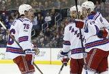 """""""Rangers"""" NHL lygoje iškovojo šeštą pergalę iš eilės"""