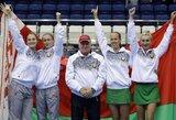 """Sensacija: Baltarusijos moterų teniso rinktinė pirmą kartą pateko į """"FedCup"""" finalą"""