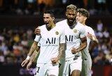 """Be traumuotų lyderių žaidę PSG iškovojo tvirtą pergalę prieš """"Metz"""""""
