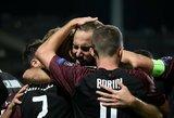 """Europos lyga: raudoną kortelę gavę """"Celtic"""" krito prieš """"Salzburg"""", """"Milan"""" išplėšė pergalę prieš """"Olympiakos"""""""