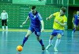 """Aštuntajame Futsal A lygos ture favoritams teko """"nevaikiškai"""" paplušėti"""