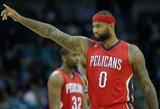 """Monstriškai žaidęs D.Cousinsas nukalė """"Pelicans"""" pergalę"""