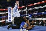 Svarbiausia bokso kova per 12 metų: nokautas trečiajame raunde ir istorinis T.Crawfordo triumfas