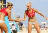 Kylančias Rusijos žvaigždes nugalėjusios tinklininkės U.Andriukaitytė ir I.Zobnina Maskvoje žengė į pusfinalį