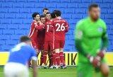 """Du neįskaityti """"Liverpool"""" įvarčiai, kontraversiška pražanga pridėto laiko metu ir """"Brighton"""" išplėštos lygiosios"""