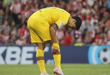 """""""Barcelona"""" patvirtino: L.Suarezas patyrė blauzdos traumą"""