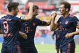 """Pirmąjį rungtynių įvartį praleidęs """"Bayern"""" užtikrintai nugalėjo """"Bayer"""""""