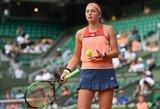"""Fiasko: titulą gynusi Latvijos teniso vunderkindė krito pirmajame """"Roland Garros"""" rate"""
