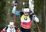 Nukeltose pasaulio biatlono taurės lenktynėse – rekordinis K.Dombrovskio pasirodymas