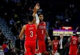 """""""Pelicans"""" įsirašė pirmąją sezono pergalę, NBA debiutavo daug žadantis puolėjas"""