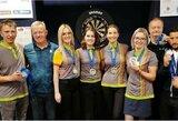 Atvirajame Baltijos smiginio čempionate – puikus Lietuvos moterų rinktinės pasirodymas