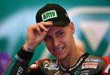 """F.Quartararo antrą kartą iš eilės laimėjo """"MotoGP"""" kvalifikaciją"""