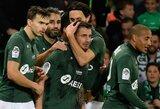 """""""Saint-Etienne"""" užtikrintai susitvarkė su """"Reims"""" futbolininkais"""