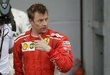 """""""Mercedes"""" vadovai pareiškė, kad K.Raikkonenas tyčia trenkėsi į L.Hamiltoną, S.Vettelis tai vadina kvailyste"""