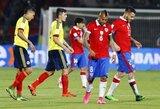 Čilė ir Kolumbija sužaidė kovingomis lygiosiomis