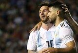 """S.Aguero atliktas pokytis socialiniame tinkle užminė mįslę: L.Messi jau pakeliui į """"Man City""""?"""