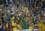 Brazilija paguldė ant menčių Ispaniją ir iškovojo Konfederacijų taurę