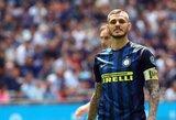 """J.Zanetti: """"Inter"""" turėtų susikaupti, pastaruoju metu per daug kalbama tik apie M.Icardi"""""""