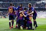 """Skaudžiai """"Real"""" už neišnaudotas progas baudę """"Barcelona"""" futbolininkai pateko į Ispanijos taurės finalą"""