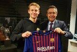 """C.Alena širsta, jog """"Barcelona"""" be jo žinios atidavė F.De Jongui jam priklausiusį marškinėlių numerį"""