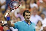"""Vangiai """"US Open"""" mačą pradėjęs R.Federeris išvengė netikėto pralaimėjimo (+ kiti rezultatai)"""