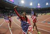 JAV bėgikės triumfavo Londono olimpiados estafetėje 4 po 400 m