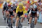 """Paskutinį kalnų išbandymą atlaikęs G.Thomasas beveik užsitikrino """"Tour de France"""" čempiono titulą"""