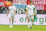 """Vokietija: 500-osios T.Mullerio rungtynės """"Bayern"""" gretose pasibaigė skaudžiu pralaimėjimu, """"Leipzig"""" varžovus nubaudė net aštuoniais įvarčiais"""