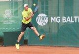 """L.Mugevičius sutriuškino pirmąjį varžovą """"Challenger"""" serijos turnyro kvalifikacijoje"""