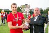 """Lietuvos futbolo legendų akivaizdoje Kauno """"Arsenalas"""" tapo Lietuvos čempionais"""