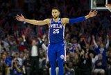 """B.Simmonsas: """"Praėjusį sezoną dėl kritikos praradau malonumą žaisti krepšinį"""""""