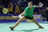A.Stapušaitytė krito jau pirmajame Europos badmintono čempionato rate