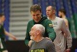 Lietuvos vyrų krepšinio rinktinė surengė treniruotę Amsterdame